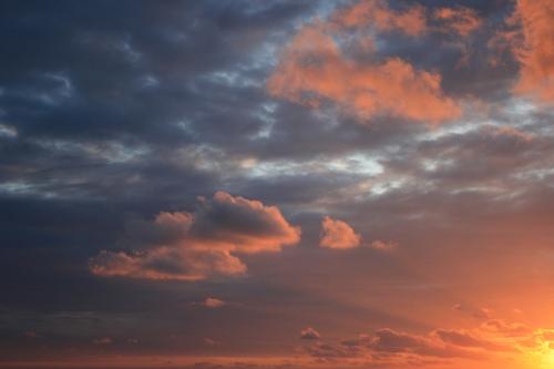 Wolken en zon, wat een schouwspel...