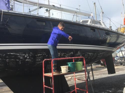 Op de botenparking